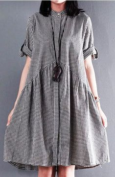 Black New cotton sundress plus size sundress casual loose summer dresses: