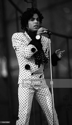 Prince performs on stage on the Lovesexy Tour at Feijenoord Stadion, De Kuip, Rotterdam, Netherlands, 17th August 1988.