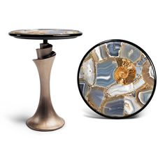 Occasional Tables - AGATE STONE SIDE TABLE KN