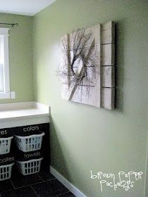 Love the idea of naming basket holders for certain loads of laundry. Keeps it organized this way.