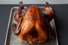 Perfect Smoked Turkey.  Foolproof method for a delicious turkey smoked in a charcoal or gas grill.  Frees up oven space!  Gluten-free, Paleo-friendly.