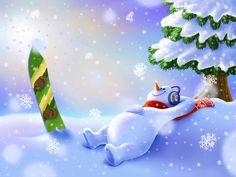 Snowman, Aidar Salimov on ArtStation at https://www.artstation.com/artwork/E4Ez4