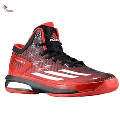 detailed look ac236 f2f60 Adidas Crazylight Boost Mens Basketball Shoes 8,8 Scarlet-noir-blanc   Amazon.fr  Chaussures et Sacs