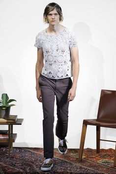 The designers like 'em too -- see how he's got paisleys on his sneaks? Orley Spring 2016 Menswear