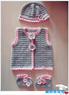 Crochet beautiful set for the smallest, consisting of a jacket, hat and bootees. Pattern for crochet baby set Source by yayatua Sets Crochet Baby Sweaters, Crochet Baby Clothes, Baby Knitting, Gilet Crochet, Knit Crochet, Crochet Hats, Free Crochet, Baby Girl Crochet, Crochet For Kids