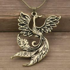 Phoenix Fire Bird Pendant Necklace Silver Color Chinese Amulet Talisman Jewelry | eBay Golden Phoenix, Phoenix Bird, Silver Pendant Necklace, Silver Necklaces, Bird Jewelry, Silver Color, My Ebay, Antique Silver, Chinese