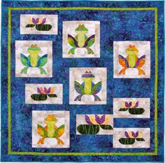 Feeling Froggy quilt pattern by Annette Ornelas at Southwind Designs - dimensional quilt pattern