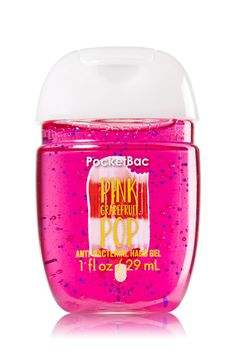Bath & Body Works Pink Grapefruit Pop PocketBac Sanitizing Hand Gel Make your hands pop with a twist of juicy grapefruit & fizzy tangerine. Bath Body Works, Bath And Body Works Perfume, Bath N Body, Pink Perfume, Pink Body, Whipped Body Butter, Bath And Bodyworks, Hand Lotion, Body Spray