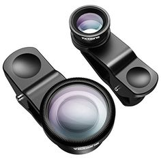 3-in-1 Clip-on Fisheye, Macro & Wide Angle Lens for Smartphones: professional quality photos with your cell phone