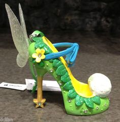 I would wear these!!!! Disney Parks Tinker Bell Princess Shoe Christmas Ornament New | eBay