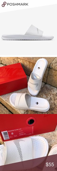 new concept c408c f37e8 NWT Nike lab slide lux NWT Nike benassi slide leather lux The NikeLab  Benassi Lux Women s