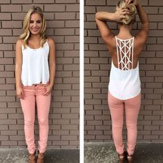 I like the mix of the pink and white, definitely need some white tops to go with my jackets!