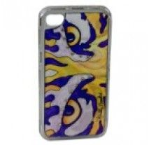Debbie Brooks - iPhone cover - Purple & Orange Tiger