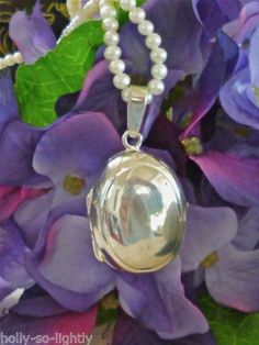 """RED ENVELOPE 18""""-20"""" PEARL NECKLACE WITH 925 STERLING SILVER PHOTO LOCKET-WBOX"""