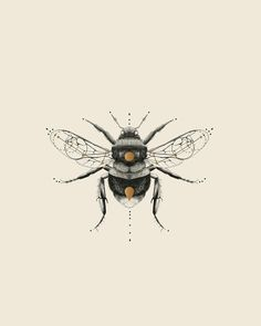 While we're here let me share with you an unused icon I did for an avant- garde jewelry brand. This one is the ___ Sacred bee. I went for a bumbleb. Bee Illustration, Illustrations, Arm Sleeve, Sacred Geometry Tattoo, Bee Art, Jewelry Branding, Art Inspo, Art Drawings, Artsy