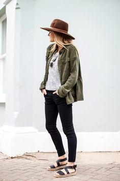 3 Le Fashion Blog 15 Ways To Wear A Green Army Jacket Hat Grey Tee Black Jeans Espadrilles Via Fashion Me Now photo 3-Le-Fashion-Blog-15-Ways-To-Wear-A-Green-Army-Jacket-Hat-Grey-Tee-Black-Jeans-Espadrilles-Via-Fashion-Me-Now.png