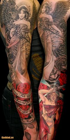 Angel Sleeve | Tattoo #ink #tattoo, Go To www.likegossip.com to get more Gossip News!