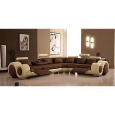 4087 - Sectional Sofa with Recliners