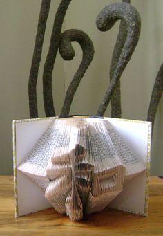 "Folded book art, Japanese word ""Wa"" or harmony by Dancing Grey Studio"