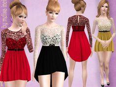 Long Back Lace Dress by melisa inci - Sims 3 Downloads CC Caboodle