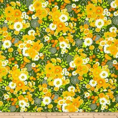 From Studio RK for Robert Kaufman, this cotton print fabric is packed with summer blooms in vibrant hues from an endless garden! Perfect for quilting, apparel and home decor accents. Colors include white and shades of orange and green.