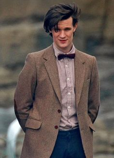 putthison:  The Chap is reporting that Doctor Who will be wearing… wait for it… Chinese tweed. Apparently the costumers have sourced star Matt Smith's jackets from a Canadian company which in turn sources its tweed not from the iconic Harris Tweed, but from mills in East Asia. The new Doctor's wardrobe (including bowtie & braces) was a key part of the conception of the new series of the iconic Doctor Who series. I spoke with the Doctor (Matt Smith) and the writer of the new show (Steven…