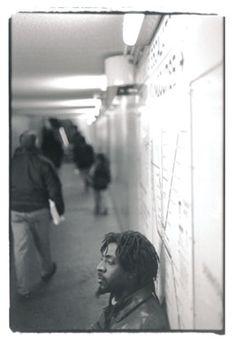 Doug, musician, photographed on the Boston MBTA Subway Platform circa 1999-2000