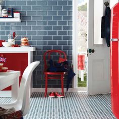 Give your kitchen a new look with British style designs from Topps Tiles. These patriotic-themed tiles would be a great alternative to a union jack and would help celebrate the Jubilee or Olympics. Housetohome loves the stylish colours and designs