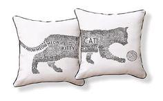 Typography Styled Cat in Black & White by nakeddecor on Etsy, $49.95