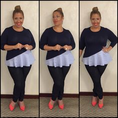 #plussize #peplum Plus Size Fashion, Peplum, Capri Pants, Blouse, Long Sleeve, Sleeves, Tops, Women, Products