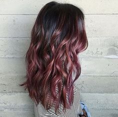 chocolate mauve  (5 tendencias de color de cabello para 2017)