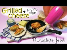 Miniature Grilled Cheese Tutorial & Frying Pan // Miniature Food - YouTube