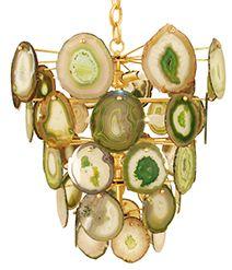 Bebe Chandelier - MarjorieMarjorie Chandelier formed with slices of sliced rocks & minerals.