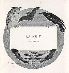 Drawing by Lucien Métivet engraved on wood by G. Lemoine, from Clair de lune (Moonlight), by Guy de Maupassant, Paris, 1905.