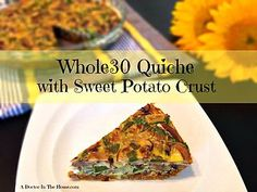 Whole30 Quiche with Sweet Potato Crust | A-DOCTOR-IN-THE-HOUSE | Bloglovin'