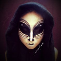 Alien makeup by Sarah Chesshir www.sarahchesshir.com
