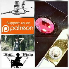 *-* jap bad pixie is now on patreon 😁. A onegirl company with a small budget always need a little help. And i have sooooooo many cool new ideas for stunnig projects to manufacture you would love.there are also some exclusive rewards for supporters😘😘 Gothic Steampunk, Occult, Beanies, Jewelry Art, Tanks, Pixie, Plugs, Giveaway, Piercings