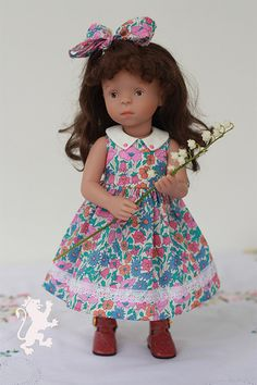 """OOAK dress for 13"""" doll - Minouche by Sylvia Natterer   by toys and books fan"""