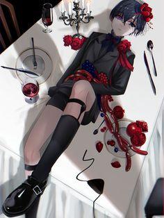 Black Butler Meme, Black Butler Manga, Butler Anime, Ciel Phantomhive, Academy Uniforms, Sebastian X Ciel, Book Of Circus, Black Butler Characters, Kawaii Faces