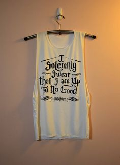 I Solemnly Swear Shirt Harry Potter Shirts Muscle Tee Tank Top TShirt T Shirt Top  Women - size S M L