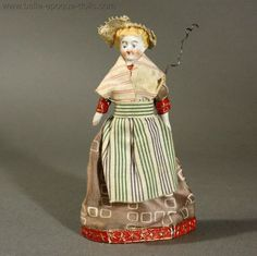 Five Early Theater Dolls in Original Costumes