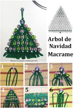 tutorial de àrbol navidad en macrame