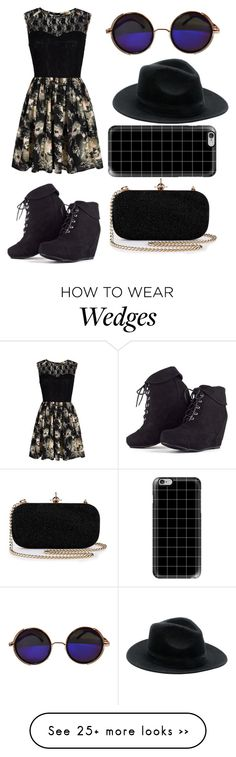 """""""Black"""" by grunge-love-girl on Polyvore featuring Mela Loves London and Casetify"""
