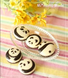 Mi*mama: panda animal decorated macarons