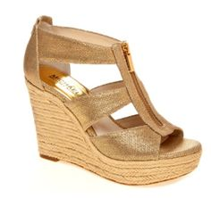 Michael kors gold wedges.  Bought them and can't take them off!  #obsessed