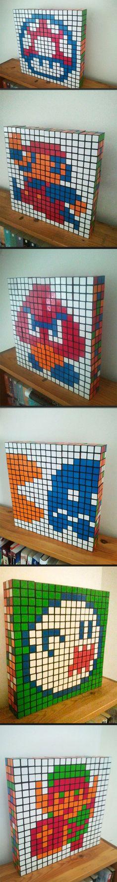 Rubik's Cube art.