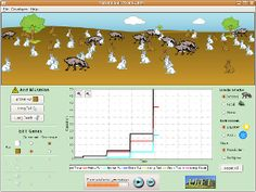 Explore natural selection by controlling the environment and causing mutations in bunnies.