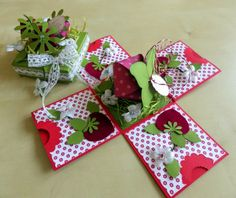 Erdbeer Explosion Box zur Hochzeit