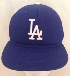L.A. DODGERS/BANK OF AMERICA - Official Hat/Cap, Blue, Velcro #LADODGERS #BaseballCap