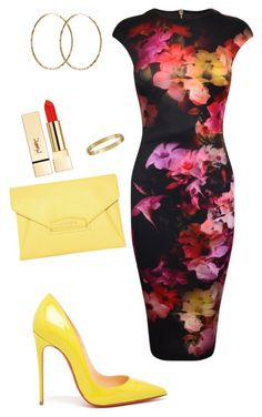 Untitled #370 by tayl00r on Polyvore featuring polyvore, fashion, style, Ted Baker, Christian Louboutin, Givenchy, Pernille Corydon and PUR